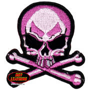Нашивка Pink Skull and Crossbones Patch