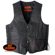 Mens Heavyweight Leather Vest