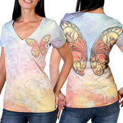 Butterfly Wings Ladies Sublimation Tee