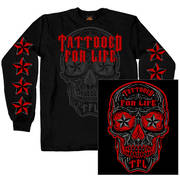 Day of the Dead Tattooed For Life Long Sleeve