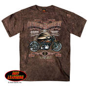 Футболка с коротким рукавом для байкеров Ol' Bikes & Whiskey Sand Brown T-Shirt 1