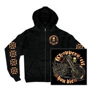 King and Queen Zip-Up Hooded Sweat Shirt