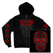 Day of the Dead Tattooed For Life Zip-Up Hooded Sweat Shirt