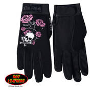 Skull and Roses Ladies Work Gloves