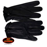 Black Leather Driving Glove