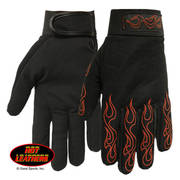 Mechanic's Gloves with Red Flames