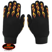 Мотоперчатки Yellow & Red Flame Mechanics Gloves
