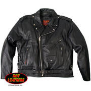 Кожаная мотокуртка Classic Motorcycle Jacket Zip Out Lining