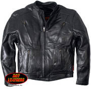 Куртка Leather Motorcycle Jacket Black