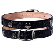 44 Mag Studded Leather Belt