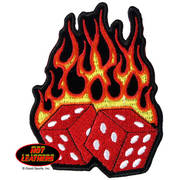 Нашивка Flaming Dice Patch