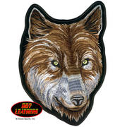 Нашивка Wolf Face Biker Patch