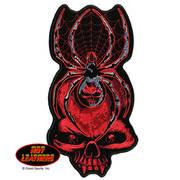 Нашивка Black Widow Skull Biker Patch