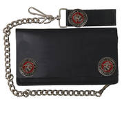 Marines Bi-Fold Leather Wallet