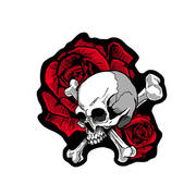 Нашивка Skull and Roses Patch