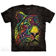 Футболка с тигром Rainbow Tiger