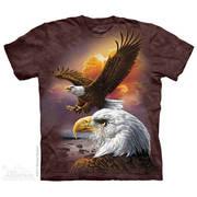 Футболка с изображением птиц и коротким рукавом Eagle & Clouds