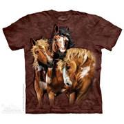 Футболка с коллажем про животных Find 8 Horses