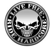 Значок Hardcore Stencil Skull Pewter Biker Pin