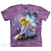 Футболка фэнтези с коротким рукавом Purple Winged Fairy
