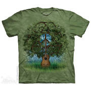 Этническая футболка с коротким рукавом Guitar Tree