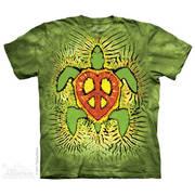 Этническая футболка Rasta Peace Turtle