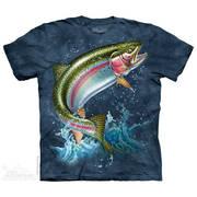 Футболка с изображением из водного мира и коротким рукавом Rainbow Trout