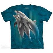 Футболка с дельфином Three Dolphins