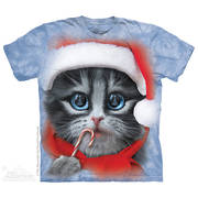 Рождественская футболка Big Face Xmas Kitty