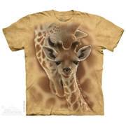 Футболка с изображением животных Newborn Giraffe