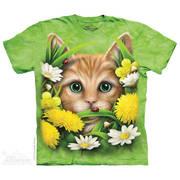 Футболка с кошкой Kitten in Springtime