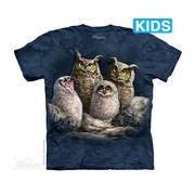 Футболка с изображением птиц и коротким рукавом Owl Family Kids