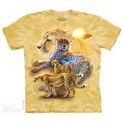Футболка с леопардом Serengeti Gold Cheetahs