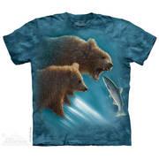 Футболка с медведем Fishing Lesson