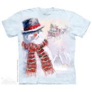 Рождественская футболка Happy Snowman