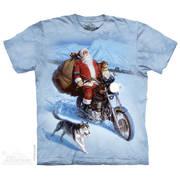 Рождественская футболка Santa Biker