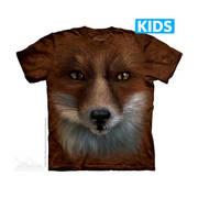 Футболка с изображением животных и короткими рукавами Big Face Fox Kids