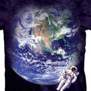 Футболка с изображением вселенной Astro Earth Kids