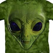 Футболка с изображением пришельцев Green Alien Face Kids