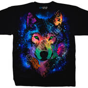 Футболка с волком Cosmic Wolf