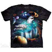 Футболка с дельфином Galaxy Dolphins