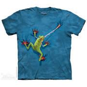 Футболка с картинкой рептилии/амфибии Frog Tongue