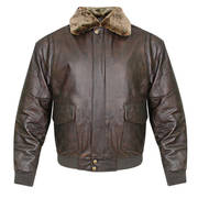 Classic Vintage Aviator Bomber Brown Jacket
