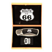 Зажигалка Route 66 Flame Knife and Lighter Set