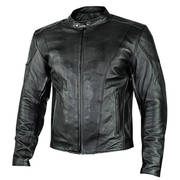 'Renegade' Motorcycle Leather Jacket with Gun Pockets