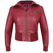 Active Ribbed Bomber Burgandy Casual Jacket