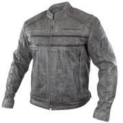 Куртка Sigma Distressed Grey Leather Motorcycle Jacket