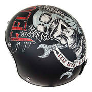 Мотошлем Lucky 13 Felon Matte Open Face Helmet