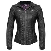 Bershka Womens Moto Black Casual Jacket