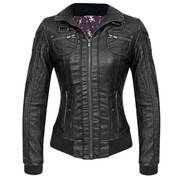 Кожаная мотокуртка Bershka Womens Moto Black Casual Jacket